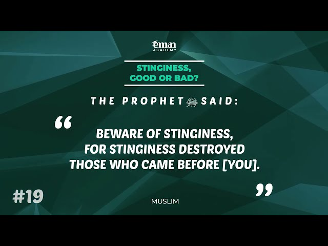 A Hadith a Day - Stinginess - Mufti Menk