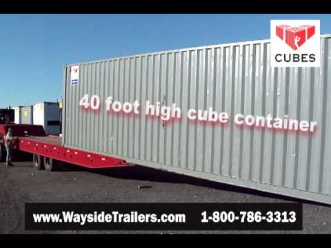 Picking Up A 40 Foot Container Youtube