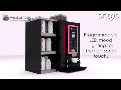 The Primo - Barista Style Tabletop Vending Machine by Westomatic