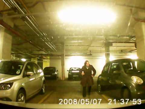 Epic Fail Woman Hits pillar with car