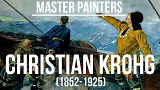 Christian Krohg (1852-1925) A collection of paintings 4K