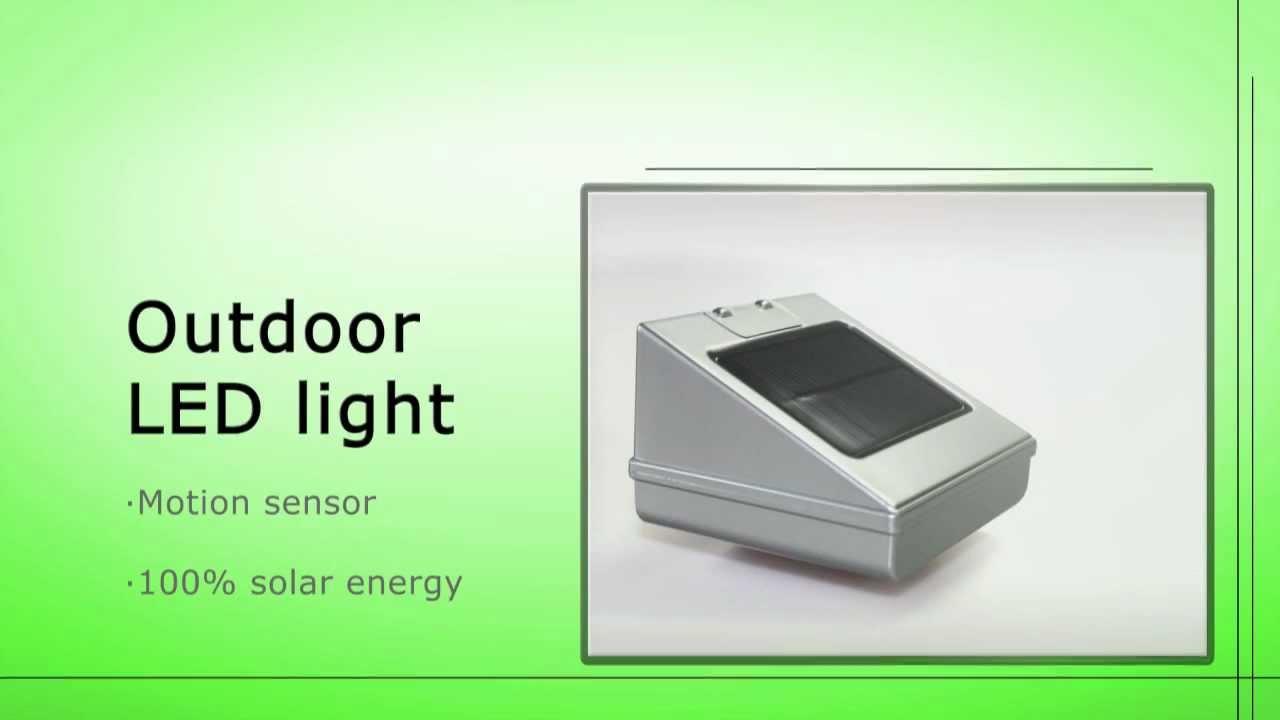 Dymond Solar Motion Light Youtube