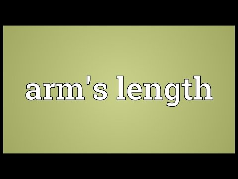 Arm's length Meaning