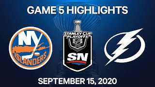 NHL Highlights | 3rd Round, Game 5: Islanders vs. Lightning - Sep 15, 2020