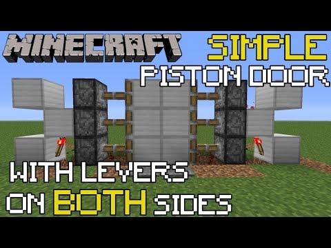 Minecraft Piston Door Tutorial Opens W Lever On Both Sides 1 15 Youtube