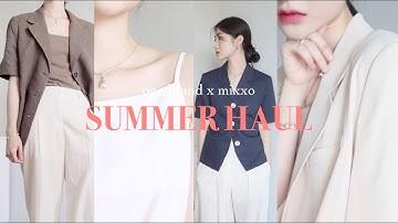 SUMMER HAUL🏝 여름에도 멋쁘게! 7가지 반팔 자켓으로 여름나기   여름 패션 하울 (feat. MIXXO)