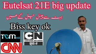 Gambar cover 21e Eutelsat big update 19-12-2019 || Many good channels are working on biss key.