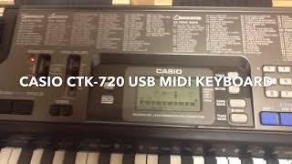 Casio CTK-720 USB Midi Music Keyboard - 61 Key Piano