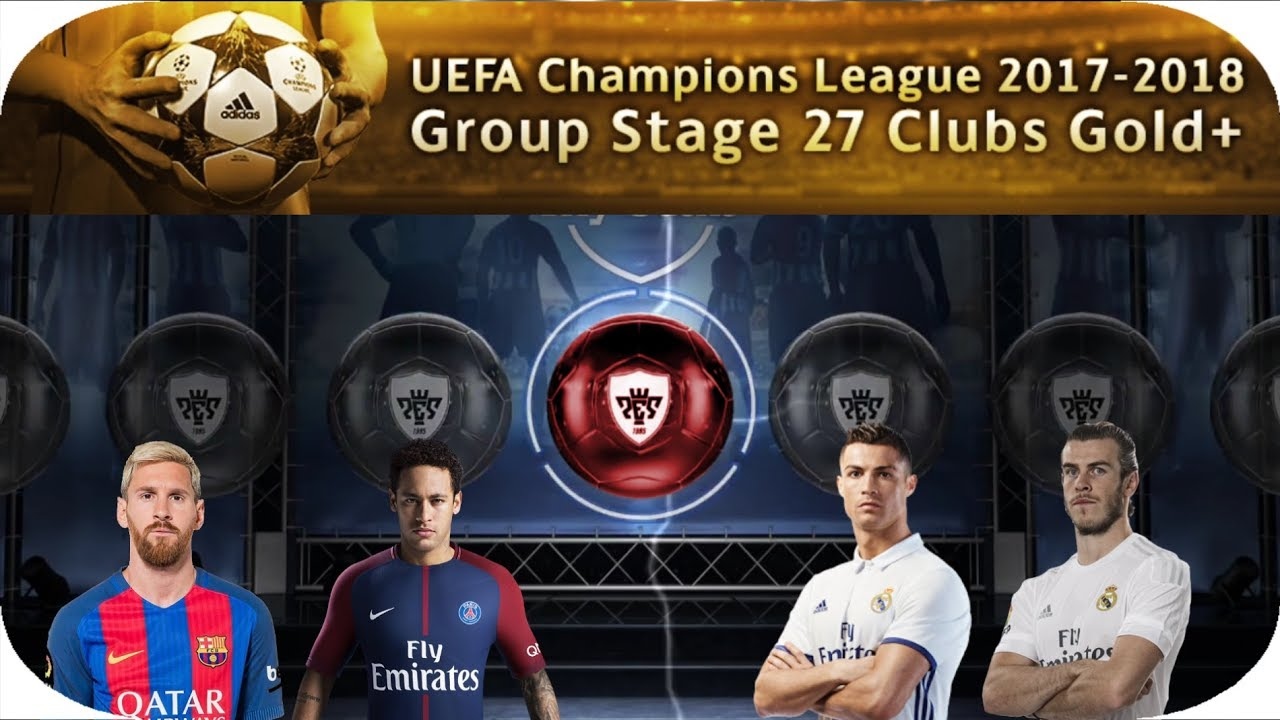 UEFA Champions League 2017-2018 Group Stage 27 Clubs || PES 2018 MOBILE - YouTube