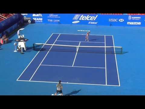 Acapulco Open ATP 500 Manuel Sanchez vs Hantuchova PRACTICE sunday PART 1