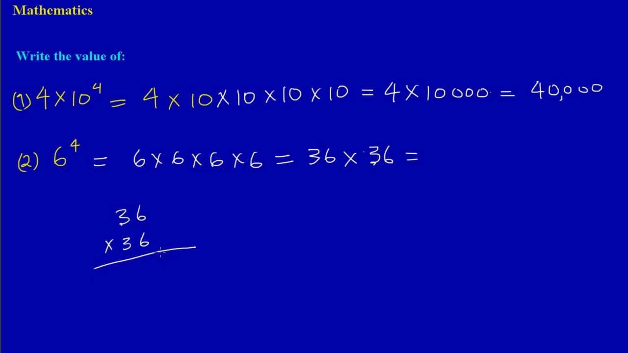 Calculating the exact value of numbers written in standard form calculating the exact value of numbers written in standard form and exponential form falaconquin