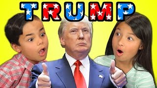 KIDS REACT TO DONALD TRUMP(DONALD TRUMP Bonus video on the REACT channel: https://goo.gl/qdaecG Watch all main React episodes (Kids/Teens/Elders/Adults/YouTubers): ..., 2016-03-03T20:00:00.000Z)