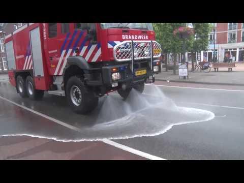 Centrum Velp onbegaanbaar door 100 liter frituurvet op straat