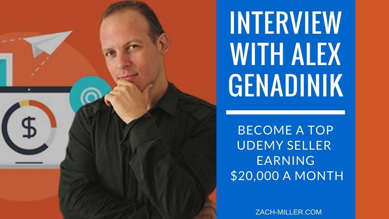 Interview with Alex Genadinik • The Udemy Millionaire