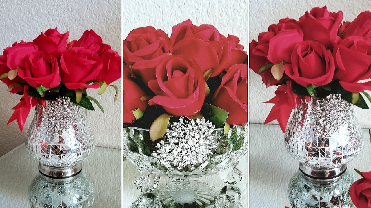 Diy 2 Quick And Easy Valentine Glam Centerpieces Valentine