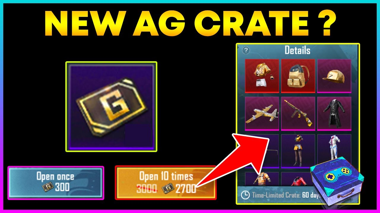 New AG Currency Crate in Pubg Mobile ? || Normal Crate Se Acha Hai ? (Hindi)