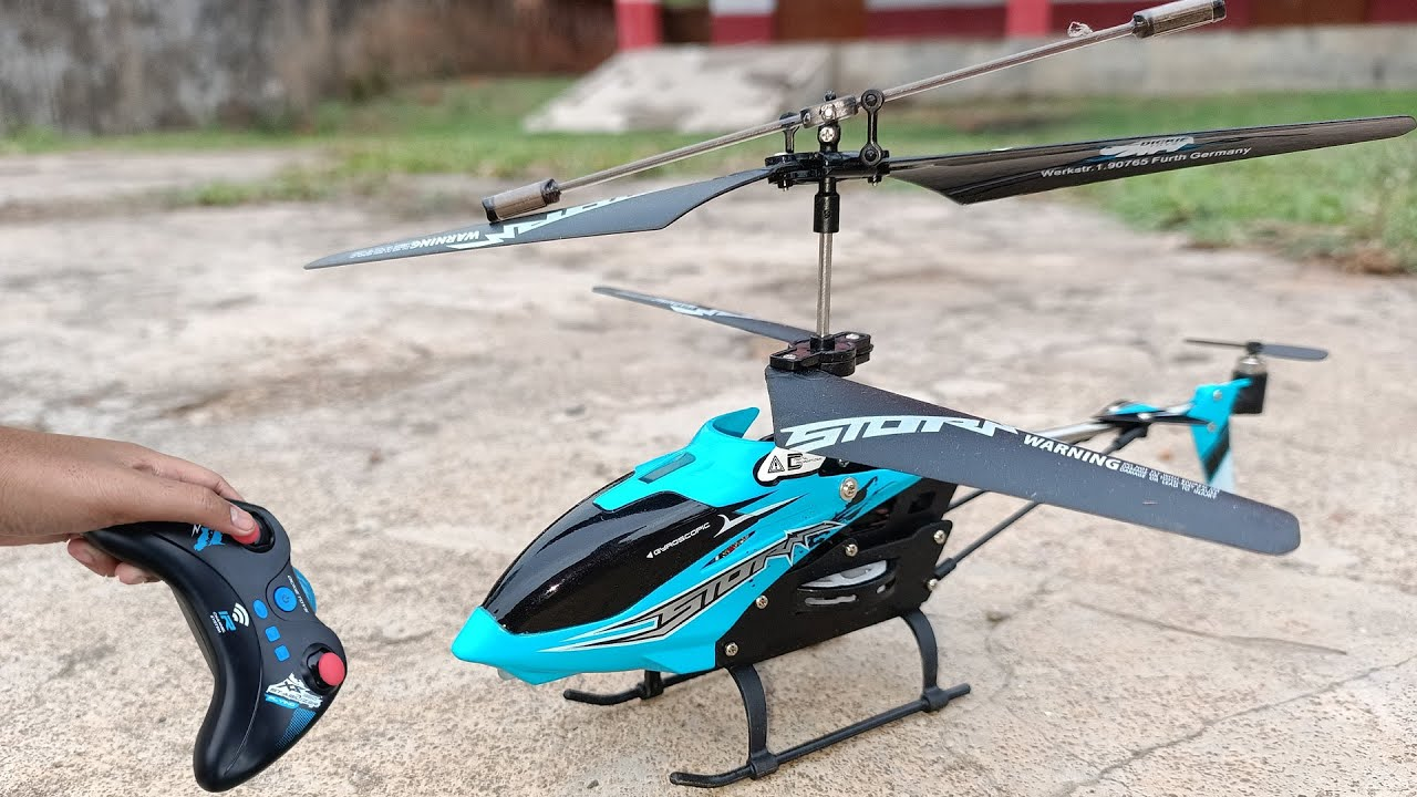 Storm Chaser New 3.5 Channel rc  helicopter unboxing and Fly test