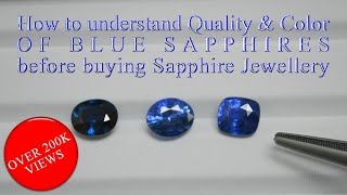 How to understand Color of Blue sapphires before buying Sapphire Jewellery