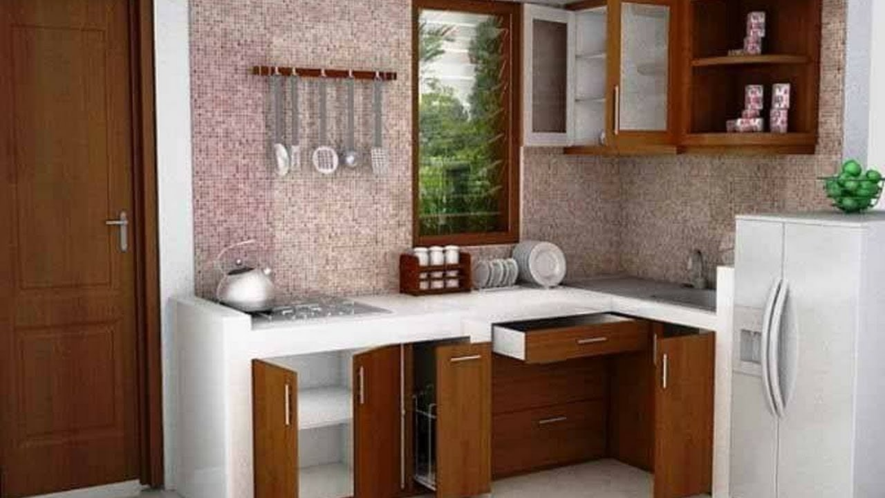 25 desain dapur minimalis youtube for Kitchen set aluminium modern