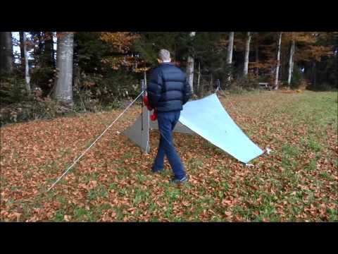90 Degree Tarp-Tent pitching on the ground