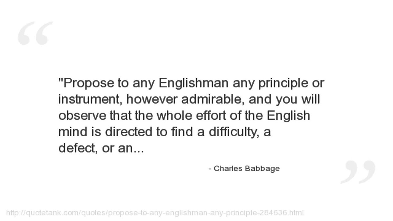 charles babbage famous for