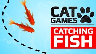 CAT GAMES - CATCHING FISH (ENTERTAINMENT VIDEOS FOR CATS TO WATCH) thumbnail