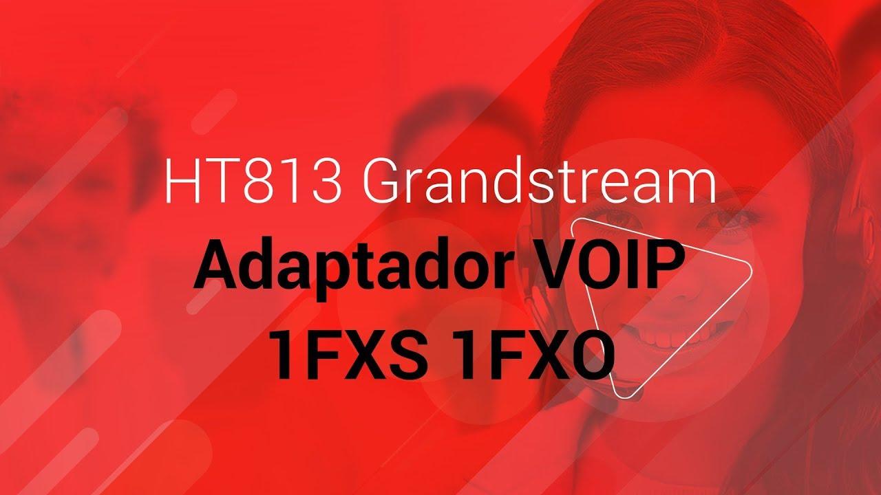 HT813 Grandstream Adaptador VOIP 1FXS 1FXO -- na LojaMundi com br