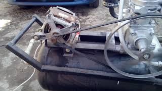 Компрессор ЗИЛ + мотор от стиральной машины
