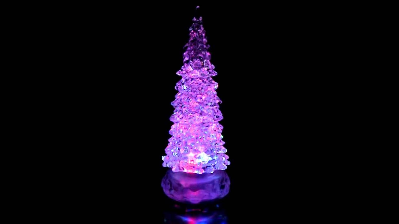 swirling glitter christmas tree