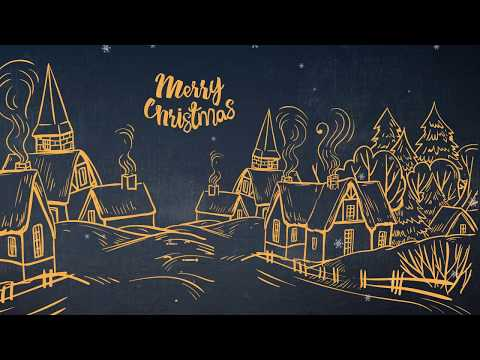Merry Christmas hand drawn Village // Free Motion Graphics