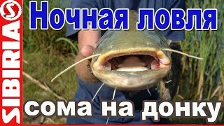 В ночь на СОМА ! Ночная ловля сома на донку Рыбалка на средней волге