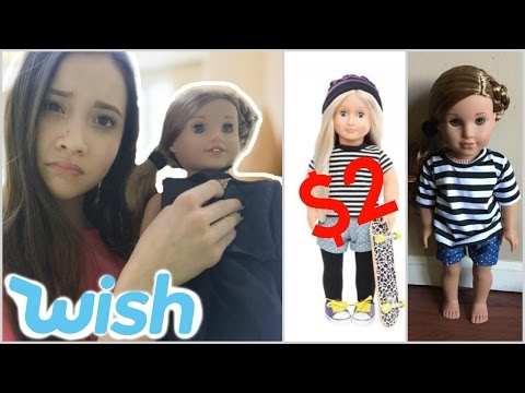 TRYING ON CHEAP $2 DOLL CLOTHING FROM WISH