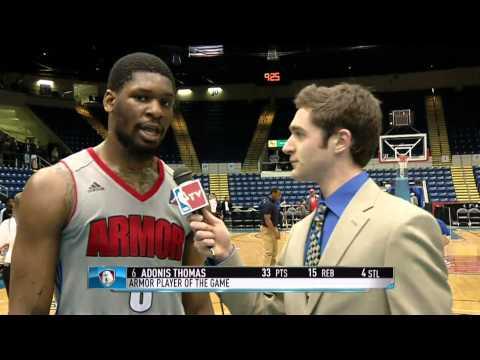 Springfield Armor: Adonis Thomas post game interview