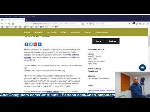 Firefox Software Updater - Mozilla Version 57.0.2 Web Browser