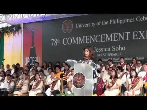 Jessica Sojo, UP Cebu 2015 Commencement Speaker