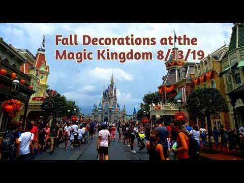 Fall Decorations at the Magic Kingdom - 8/13/2019