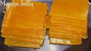 How to make Mango Jelly-Homemade Mango Jelly-Mamidi Tandra Recipe in Telugu-Mango papad Recipe-Aam