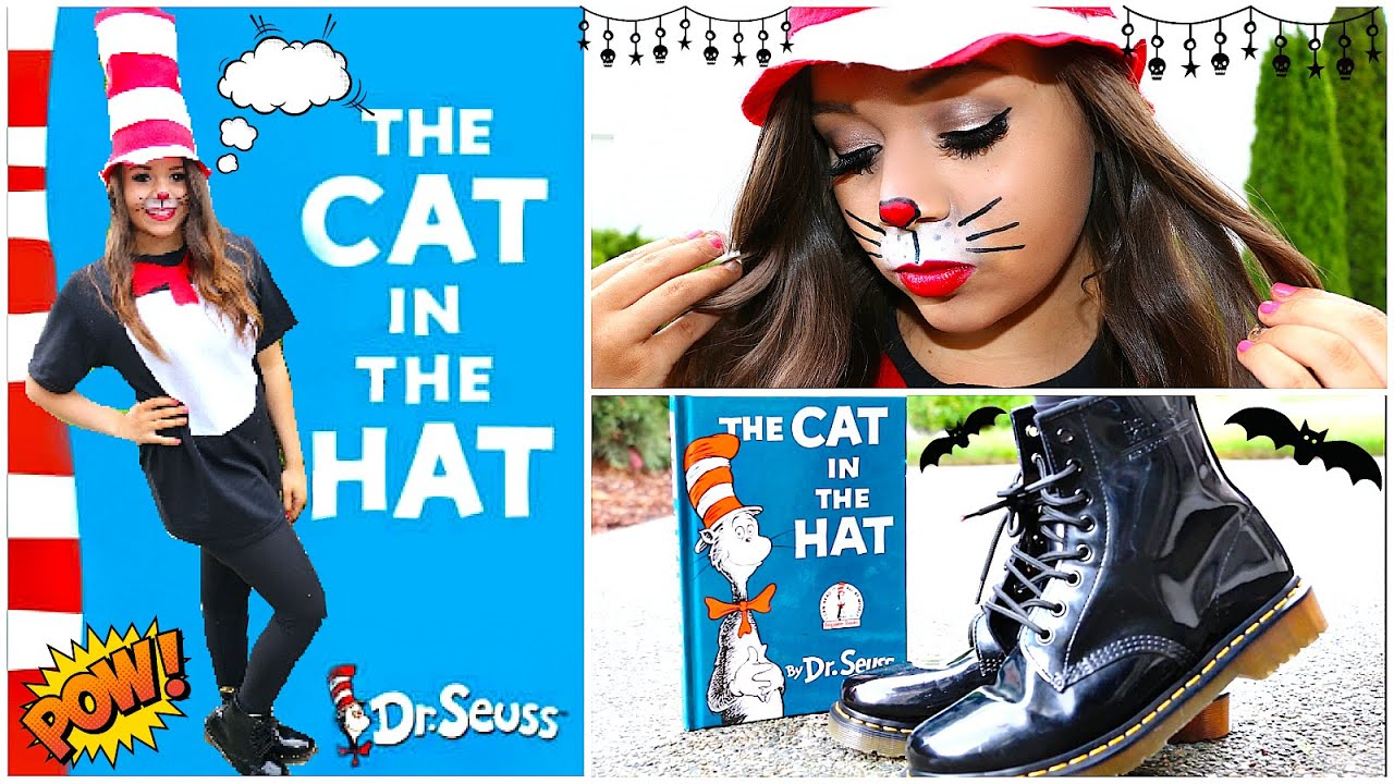 diy cat in the hat halloween costume! | krazyrayray - youtube