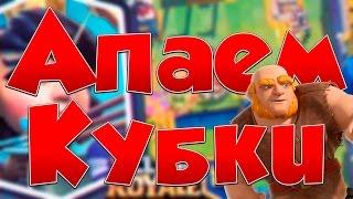ПОДНИМАЕМ КУБКИ ! - Clash Royale