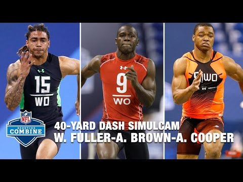 Will Fuller Vs. Antonio Brown Vs. Amari Cooper Vs. Brandin Cooks | 40-Yard Dash Simulcam