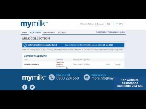 My Milk Website Recording