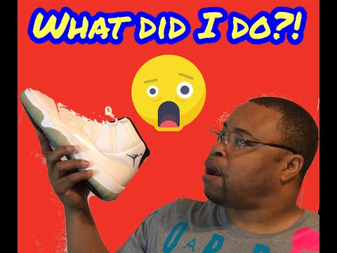 How to clean Jordan 11's with RESHOEVN8R.    May 22, 2019