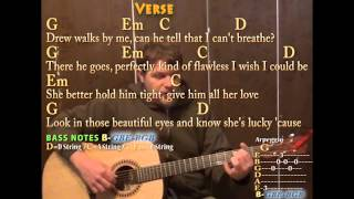 Teardrops on My Guitar (Taylor Swift) Fingerstyle Guitar Cover with Chords Lyrics on Screen