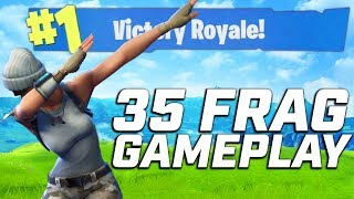 36 FRAG WIN! (Fortnite Battle Royale Gameplay)