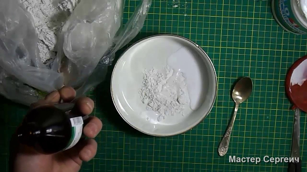 Рецепты приготовления шпаклевки из гипса пва и акриловой краски