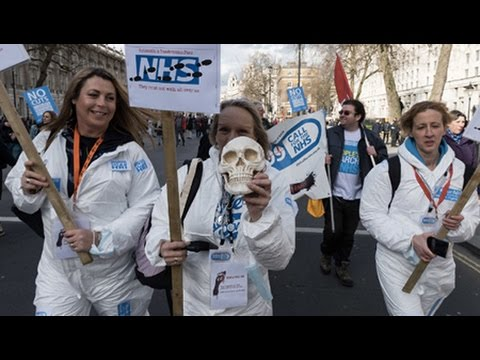 Tens of Thousands Demonstrate to Protect Britain's Heathcare System