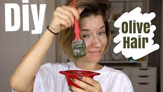 DIY OLIVE HAIR