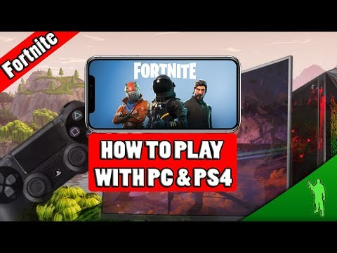 How to play Fortnite Mobile with PC & PS4 | Fortnite Mobile (deutsch)