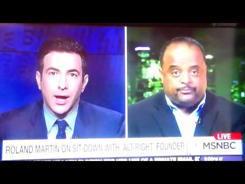 Roland Martin Interview ON MSNBC Regarding White Supremacy