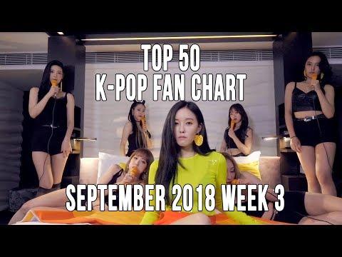 Top 50 K-Pop Songs Chart - September 2018 Week 3 Fan Chart